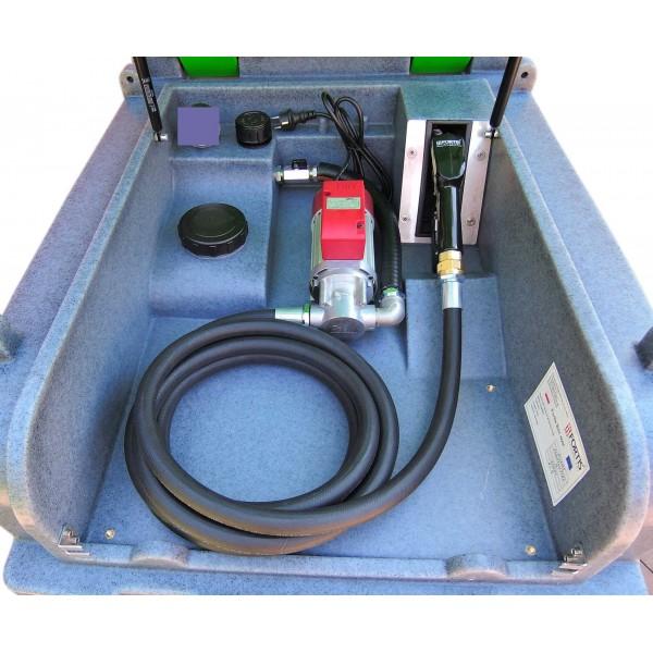 Výdejní nádrž na naftu 400 L  230 V pro převoz nafty bez ADR