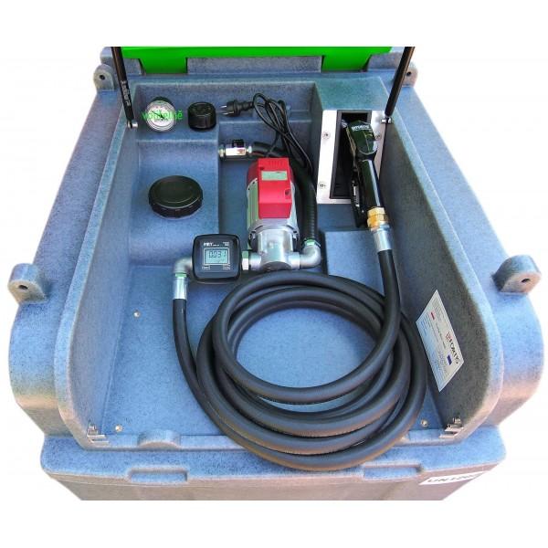 kontejner na naftu FortisBox 400 L  230 V s měřičem, pro převoz nafty bez ADR