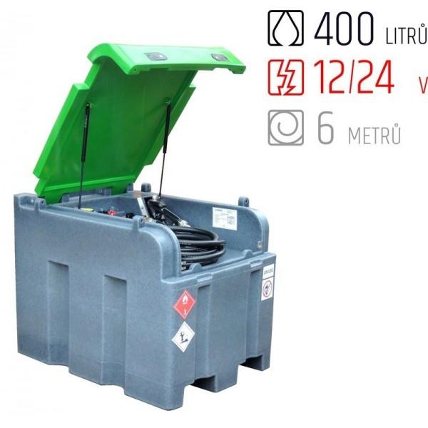 Mobilní nádrž na naftu 12V 24V Fortis 400 litrů